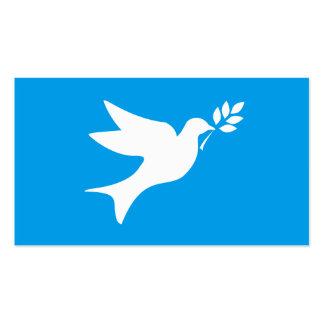 Pomba da paz cartão de visita