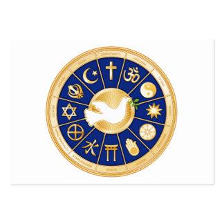 Pomba da paz, mandala da fé do mundo cartão de visita grande