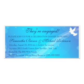 Pomba de espalhamento da alegria & do amor convite 10.16 x 23.49cm
