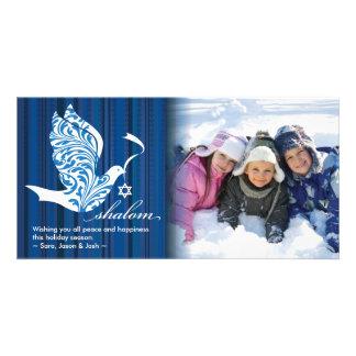 Pomba de Shalom horizontal Cartão Com Foto