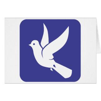 Pomba de voo do ícone da paz cartoes
