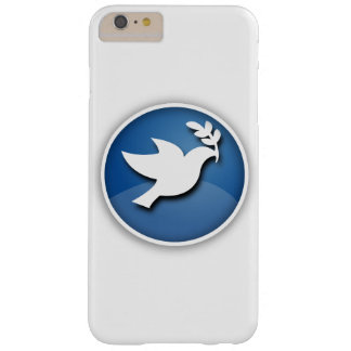 Pomba do azul e a branca da paz capa barely there para iPhone 6 plus