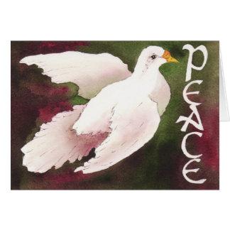 Pomba do cartão de Natal da paz