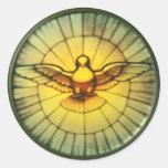 Pomba do Espírito Santo Adesivo Em Formato Redondo