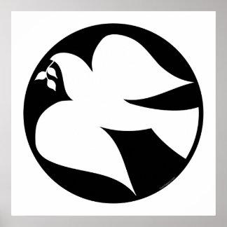 Pomba do sinal de paz poster