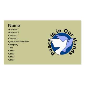 Pombas de paz cartão de visita