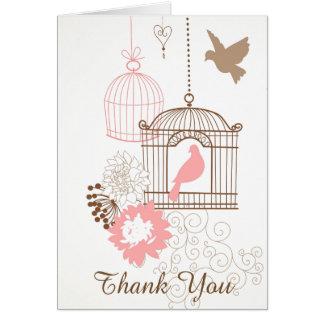 Pombas & gaiolas - cartão