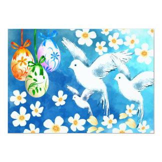 Pombas & ovos da páscoa. Convites da refeição Convite 12.7 X 17.78cm
