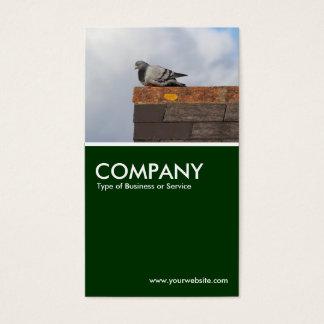 Pombo do bom dia - verde escuro cartão de visitas