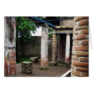 Pompeia - ruínas de uma casa de campo cartão comemorativo