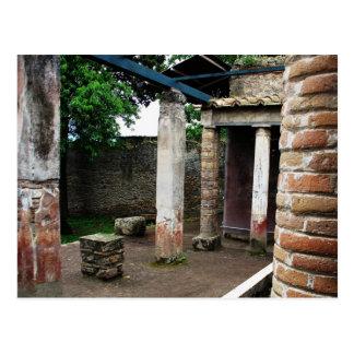 Pompeia - ruínas de uma casa de campo cartão postal