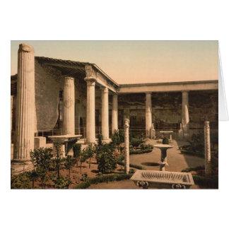 Pompeii, Peristyle da casa do cartão de nota de