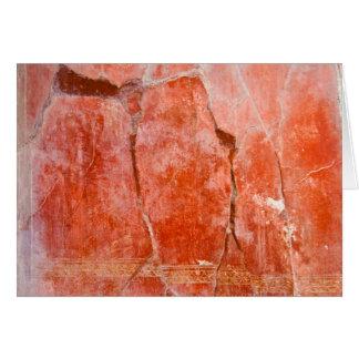 Pompeii vermelho cartão comemorativo
