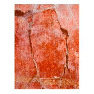Pompeii vermelho cartão postal