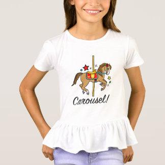Pônei do carrossel com estrelas camiseta