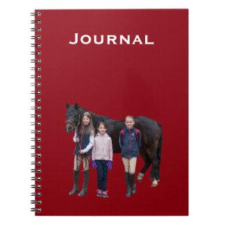 Pônei e caderno dos miúdos