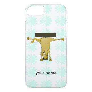 Pônei engraçado do monograma T personalizado Capa iPhone 7