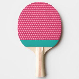 Pong cor-de-rosa do sibilo raquete para ping pong