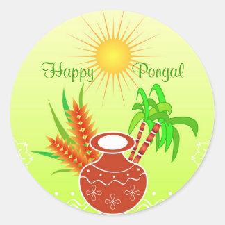 Pongal - festival indiano sul adesivo redondo