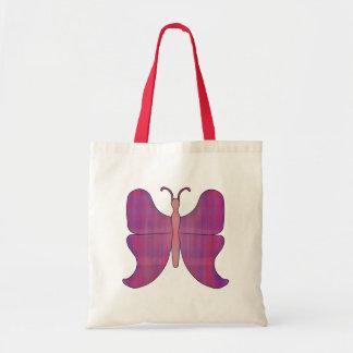 Ponta azul da borboleta bolsa para compras