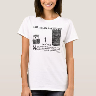 Ponta cristã #4 da segurança: 20:8 de Exod Camiseta