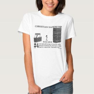 Ponta cristã #4 da segurança: 20:8 de Exod Tshirt