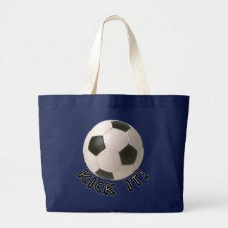 pontapé do esporte de 3D Soccerball ele Sacola Tote Jumbo