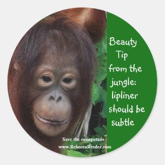 Pontas da beleza da selva adesivo