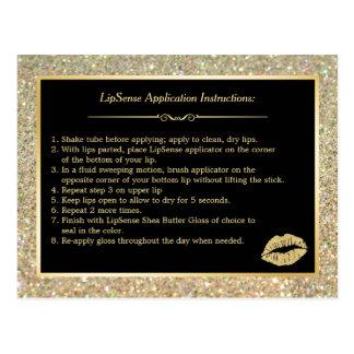 Pontas da instrução dos lábios da composição do cartão postal