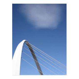 Ponte cartão de Newcastle do milênio, Inglaterra