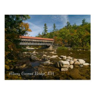 Ponte coberta de Albany, cartão     do NH