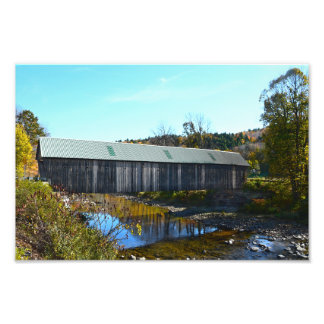 Ponte coberta de Lincoln, Woodstock, Vermont Foto