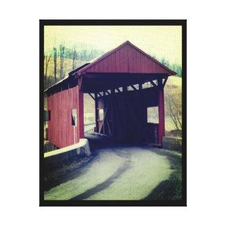 Ponte coberta impressão em canvas