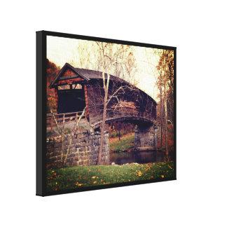 Ponte coberta impressão em tela