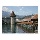 Ponte da capela, lucerna, suiça cartões postais