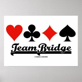 Ponte da equipe (quatro ternos do cartão) poster