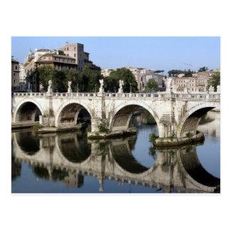Ponte da rua Angelo de Castel, Roma, Italia Cartão Postal