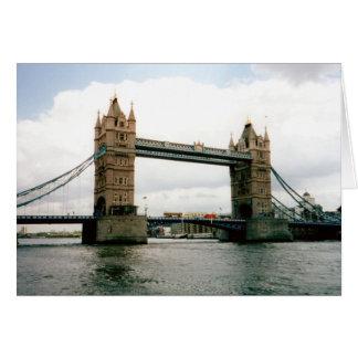 Ponte da torre, Thames River, Londres Cartão Comemorativo