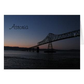 Ponte de Astoria-Megler, Oregon Cartão Comemorativo