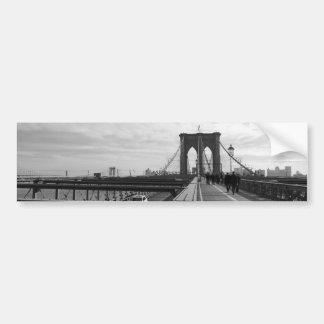 Ponte de Brooklyn branca preta - nr 1 de NY New Adesivo Para Carro