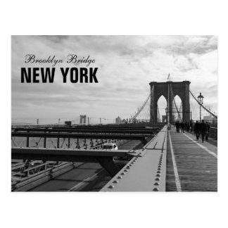 Ponte de Brooklyn branca preta - nr 1 de NY New Cartões Postais