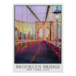 Ponte de Brooklyn, Nova Iorque Poster