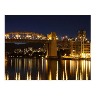 Ponte de Burrard, cartão de Vancôver