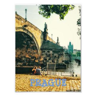 Ponte de Charles em Praga Impressão De Foto