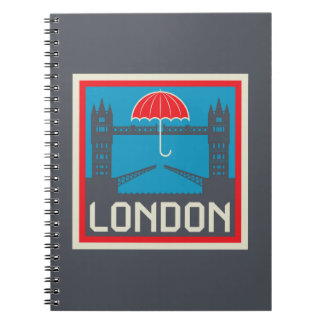 Ponte de Londres com guarda-chuva Cadernos