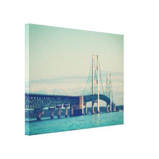 Ponte de Mackinac Impressão Em Canvas
