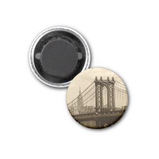 Ponte de Manhattan Ímã Redondo 2.54cm