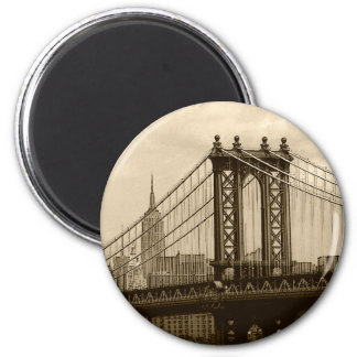 Ponte de Manhattan Ímã Redondo 5.08cm