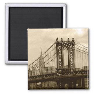 Ponte de Manhattan Ímã Quadrado