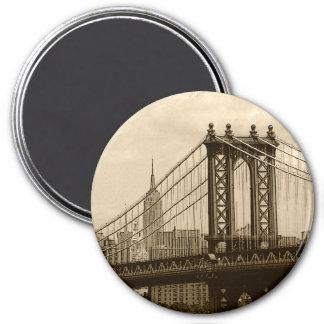 Ponte de Manhattan Ímã Redondo 7.62cm